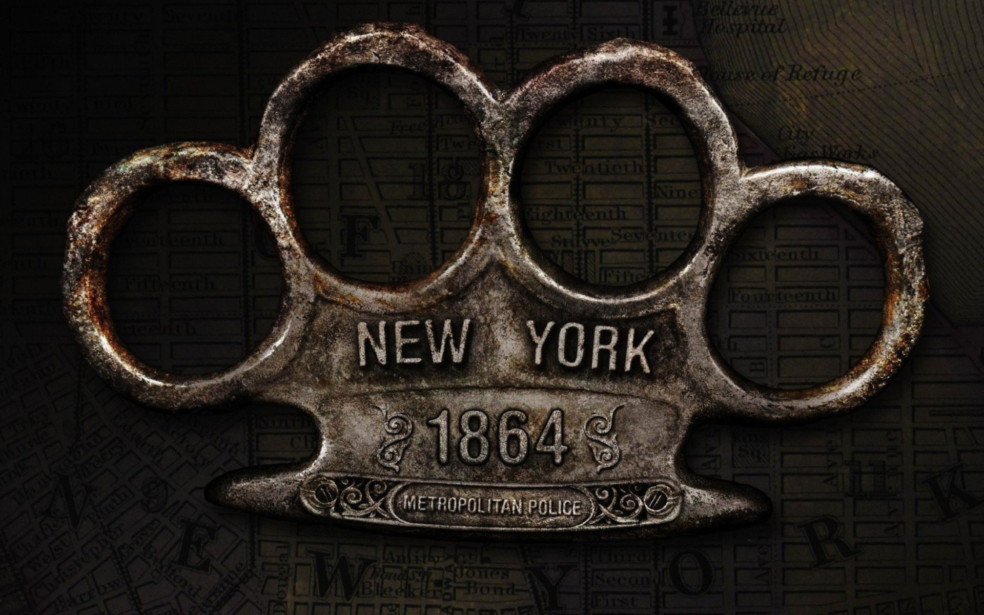 New York Police Knuckles wallpaper 1920x1200