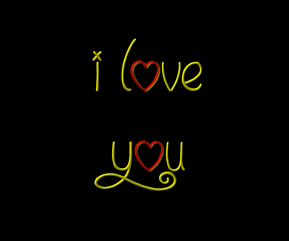 I Love You wallpaper 960x800