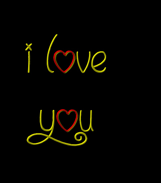 I Love You Background for Nokia Asha 306