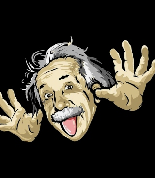 Free Funny Albert Einstein Picture for 240x400