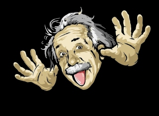 Funny Albert Einstein Picture for 1280x800