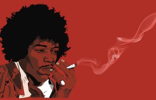 Jimi Hendrix Background for Android 800x1280
