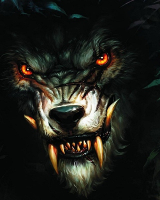 Werewolf Artwork sfondi gratuiti per iPhone 6 Plus