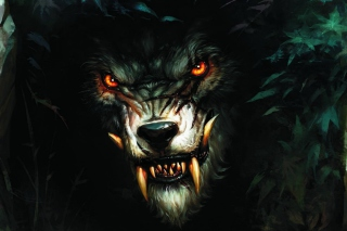Werewolf Artwork Background for Android, iPhone and iPad