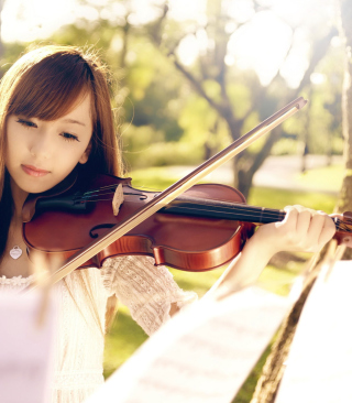 Playing Violin Background for Nokia X2