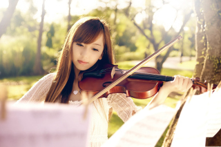 Playing Violin Wallpaper for Android, iPhone and iPad
