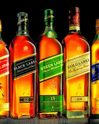Kostenloses Johnnie Walker Label Whisky Wallpaper für 320x480
