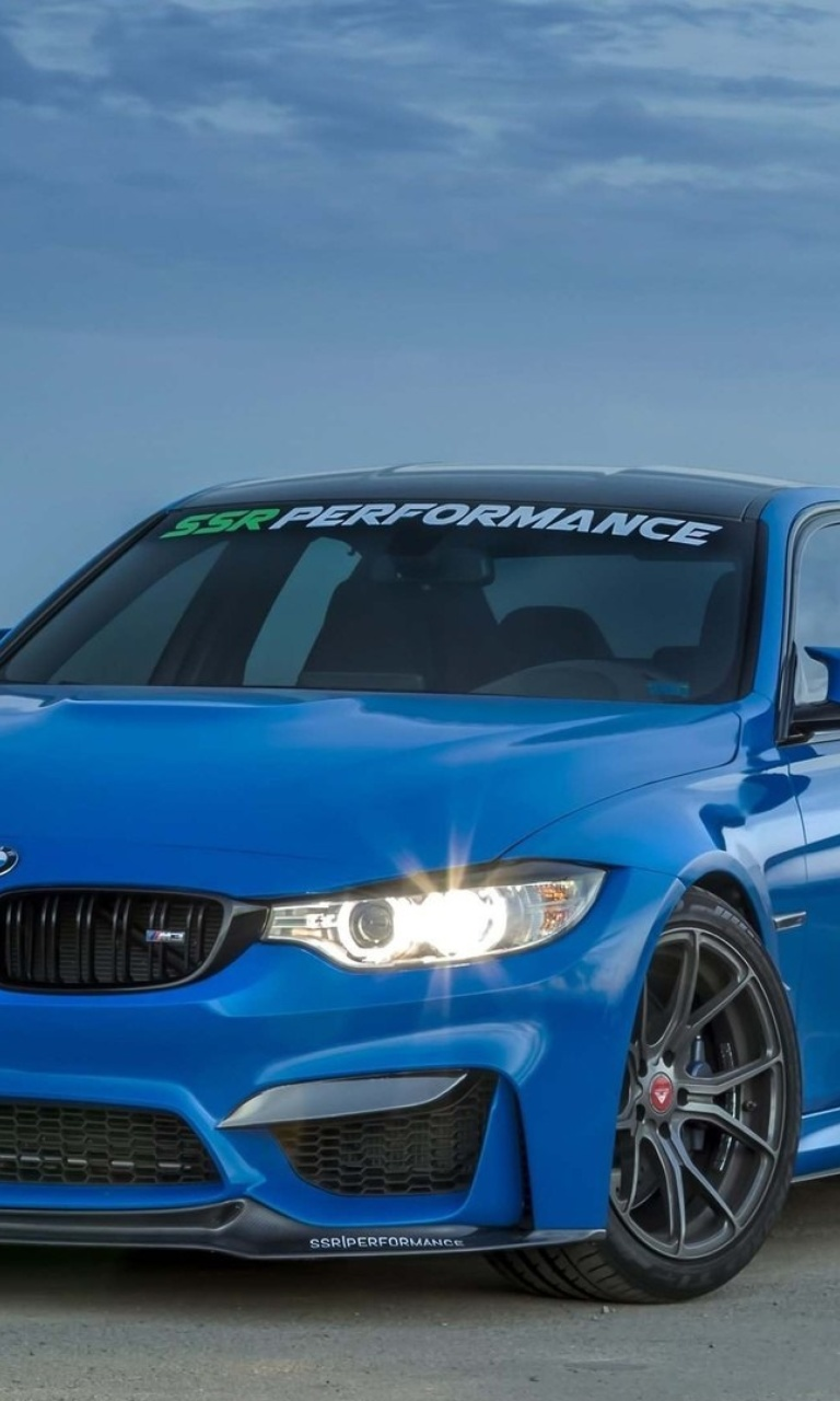 Sfondi BMW M3 Blue 768x1280