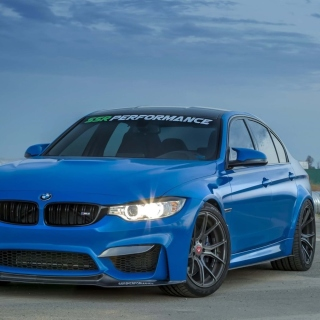 BMW M3 Blue sfondi gratuiti per iPad mini