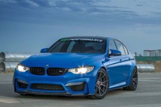 BMW M3 Blue Picture for Android, iPhone and iPad