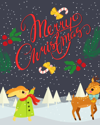 Merry Christmas Wallpaper for 240x320