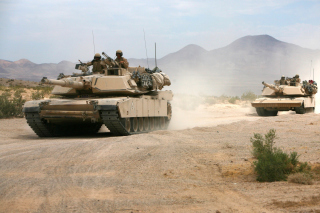 Free United States Marine Corps on Tanks Picture for Android, iPhone and iPad