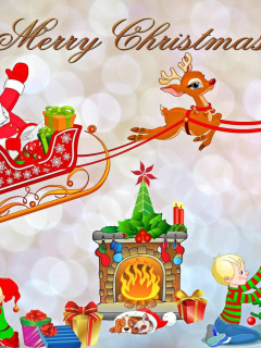 Screenshot №1 pro téma Merry Xmas Card 240x320