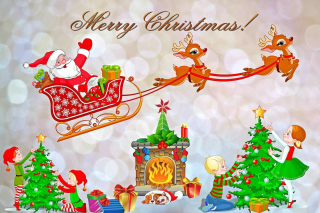 Free Merry Xmas Card Picture for Android, iPhone and iPad