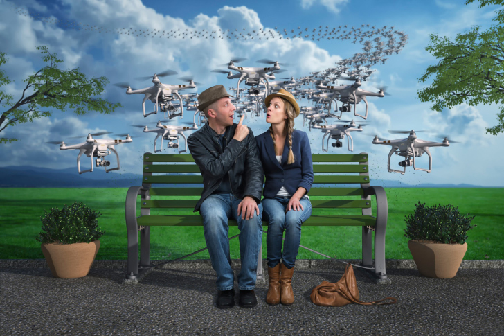 Quadcopters spies wallpaper