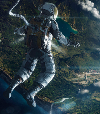 Astronaut In Space Wallpaper for iPhone 4