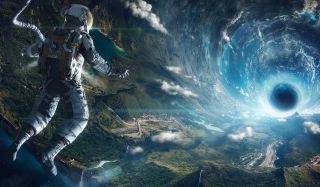Free Astronaut In Space Picture for Desktop Netbook 1024x600