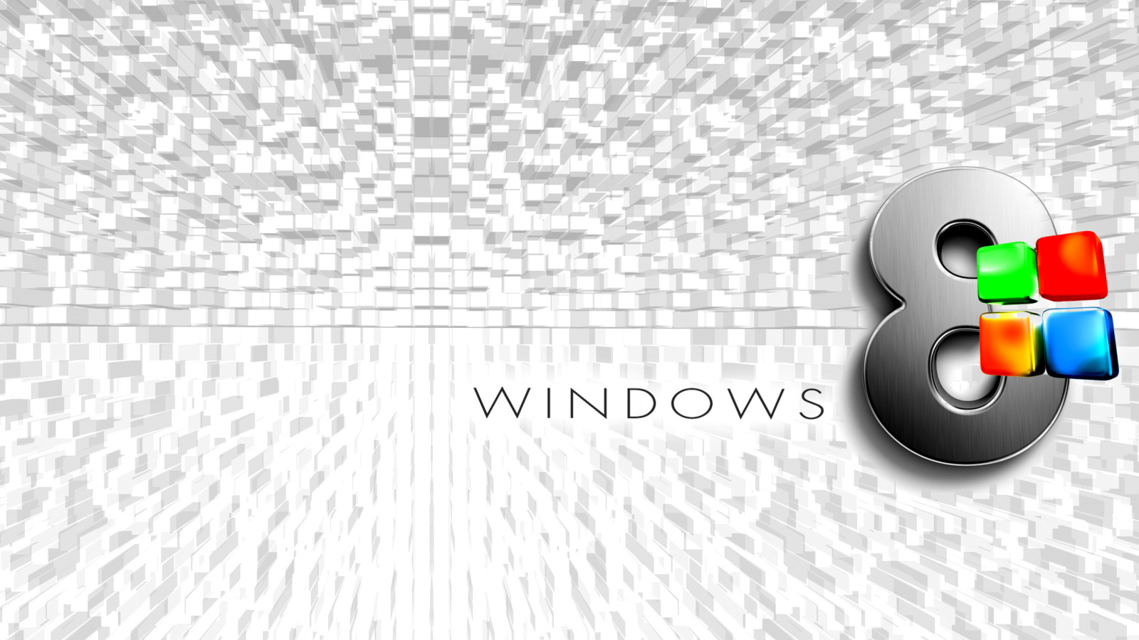 Screenshot №1 pro téma Windows 8 Logo Wallpaper 1600x900