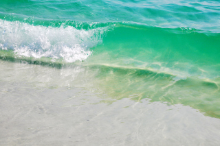 Free Turquoise Waves Picture for Android, iPhone and iPad