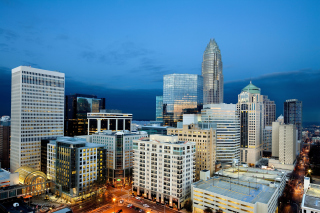 Charlotte Cityscape Picture for Android, iPhone and iPad