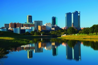 Fort Worth Skyscrapers in Texas - Obrázkek zdarma pro Widescreen Desktop PC 1280x800