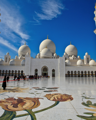 Kostenloses Sheikh Zayed Mosque located in Abu Dhabi Wallpaper für 640x960