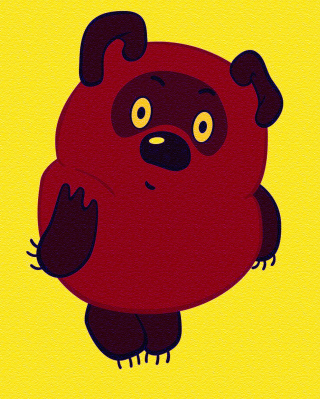 Russian Cartoon Character Winnie Pooh Wallpaper for Nokia C2-03