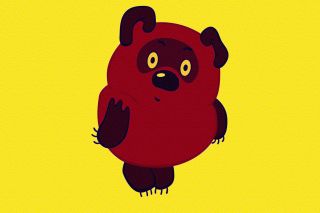 Russian Cartoon Character Winnie Pooh Background for Android, iPhone and iPad