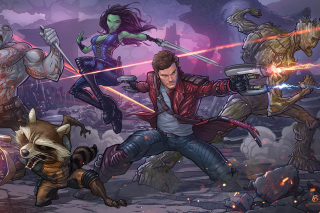 Guardians of the Galaxy Background for Android, iPhone and iPad