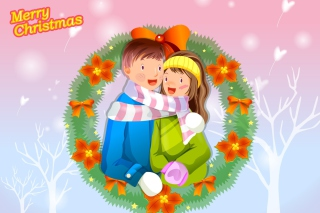 Christmas Couple Wallpaper for Android, iPhone and iPad