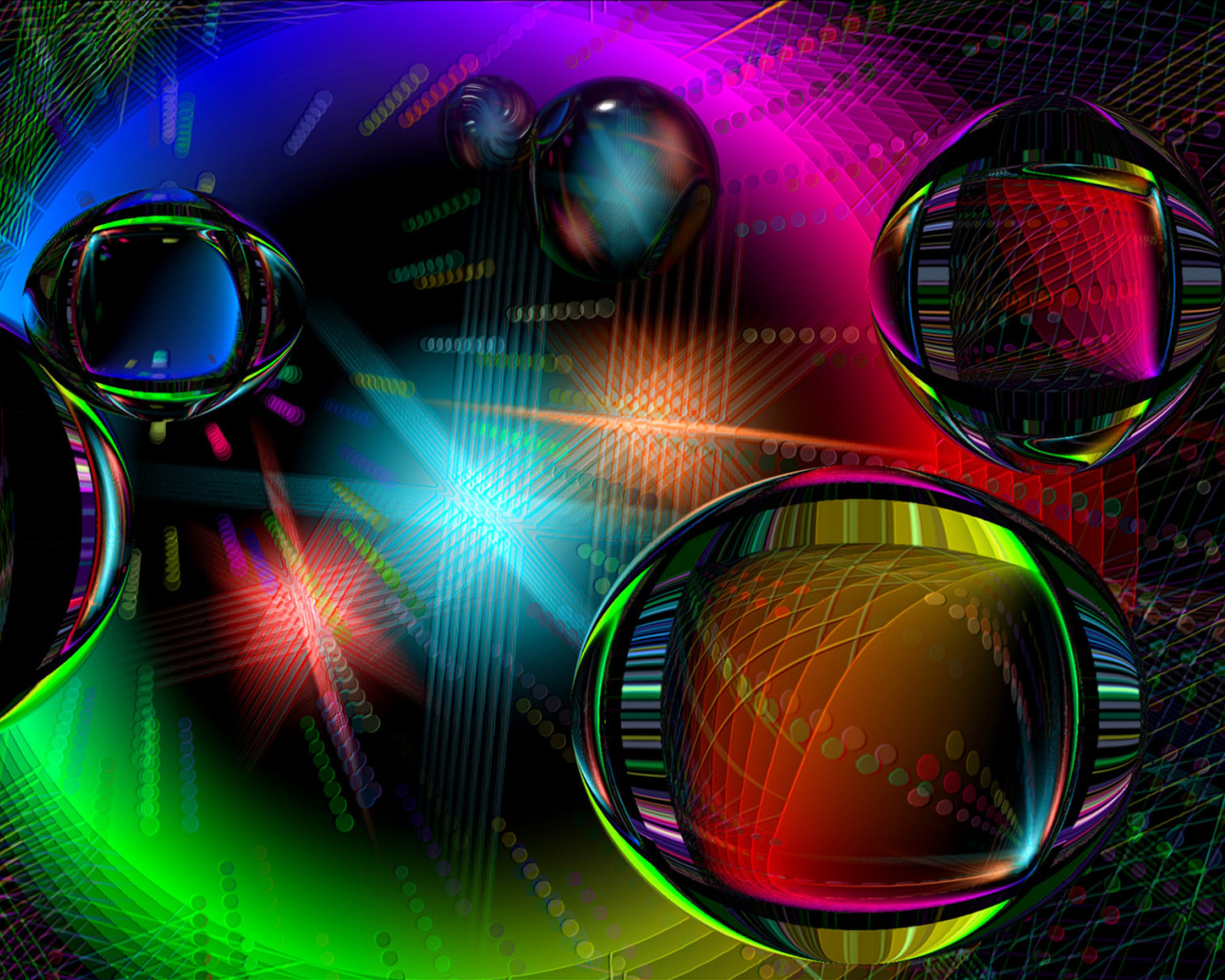 Screenshot №1 pro téma Colored Drops 1280x1024