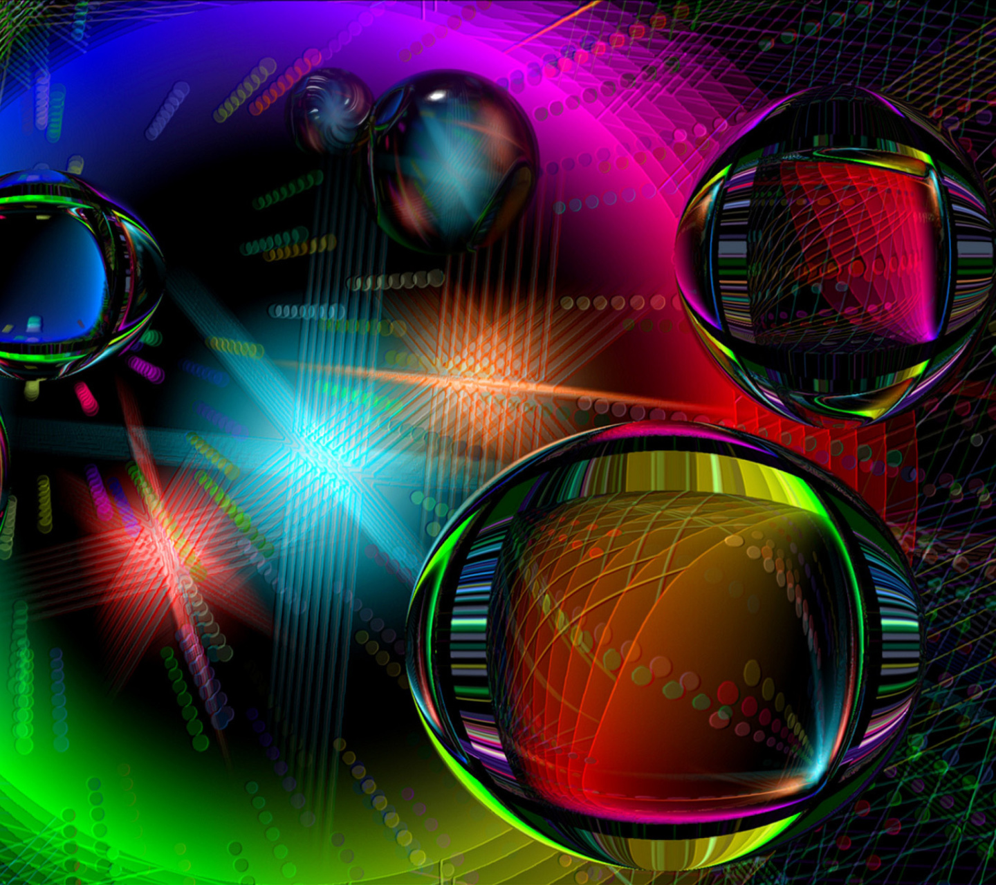 Screenshot №1 pro téma Colored Drops 1440x1280