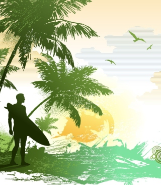 Tropical Vector Art Background for 240x320