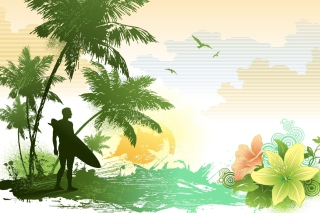 Free Tropical Vector Art Picture for Android, iPhone and iPad