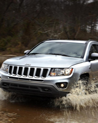 2012 Jeep Compass Silver Background for iPhone 6 Plus