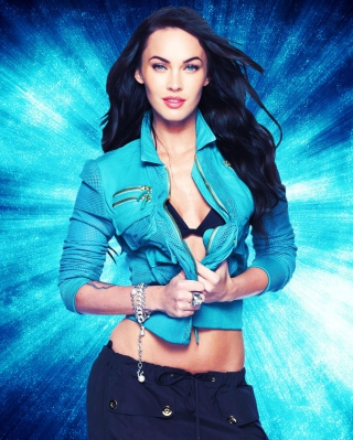 Megan Fox Blue Wallpaper for 480x800