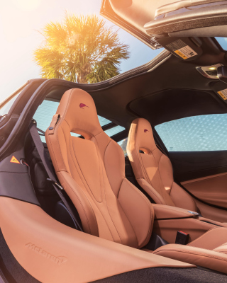 Kostenloses Mclaren MSO 720S Coupe Interior Wallpaper für iPhone 6 Plus