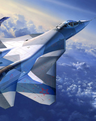 Sukhoi PAK FA Fighter Aircraft Background for Nokia C2-03