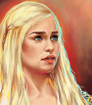 Emilia Clarke Game Of Thrones Painting Background for Nokia Asha 311