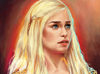 Emilia Clarke Game Of Thrones Painting - Obrázkek zdarma
