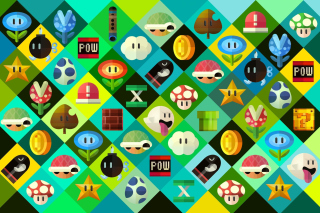 Kostenloses Super Mario power ups Abilities in Nintendo Wallpaper für Android, iPhone und iPad