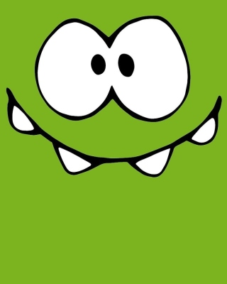 Om Nom from game Cut the Rope sfondi gratuiti per Nokia Asha 308