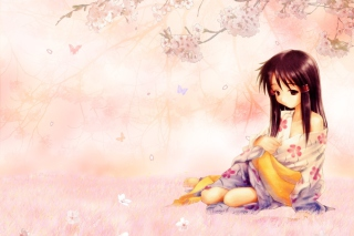 Sakura Girl Picture for Android, iPhone and iPad