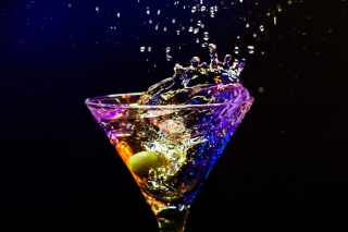 Martini With Olive Wallpaper for Android, iPhone and iPad