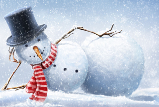 Cool Snowman Wallpaper for Android, iPhone and iPad