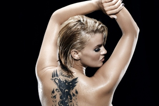 Kerry Katona Tattoo Picture for Android, iPhone and iPad