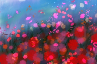 Free Flower Abstract Painting Picture for Android, iPhone and iPad