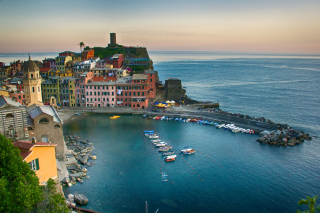 Vernazza, Cinque Terre, Italy, Ligurian Sea sfondi gratuiti per cellulari Android, iPhone, iPad e desktop