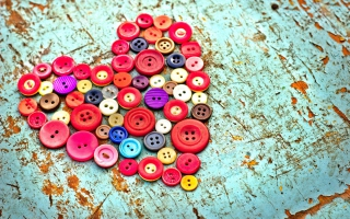 Heart of the Buttons Wallpaper for Android, iPhone and iPad