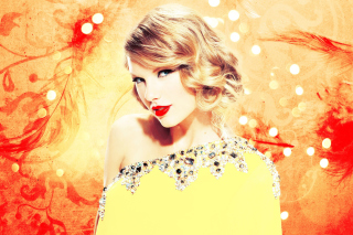 Taylor Swift In Sparkling Dress Picture for LG Optimus U